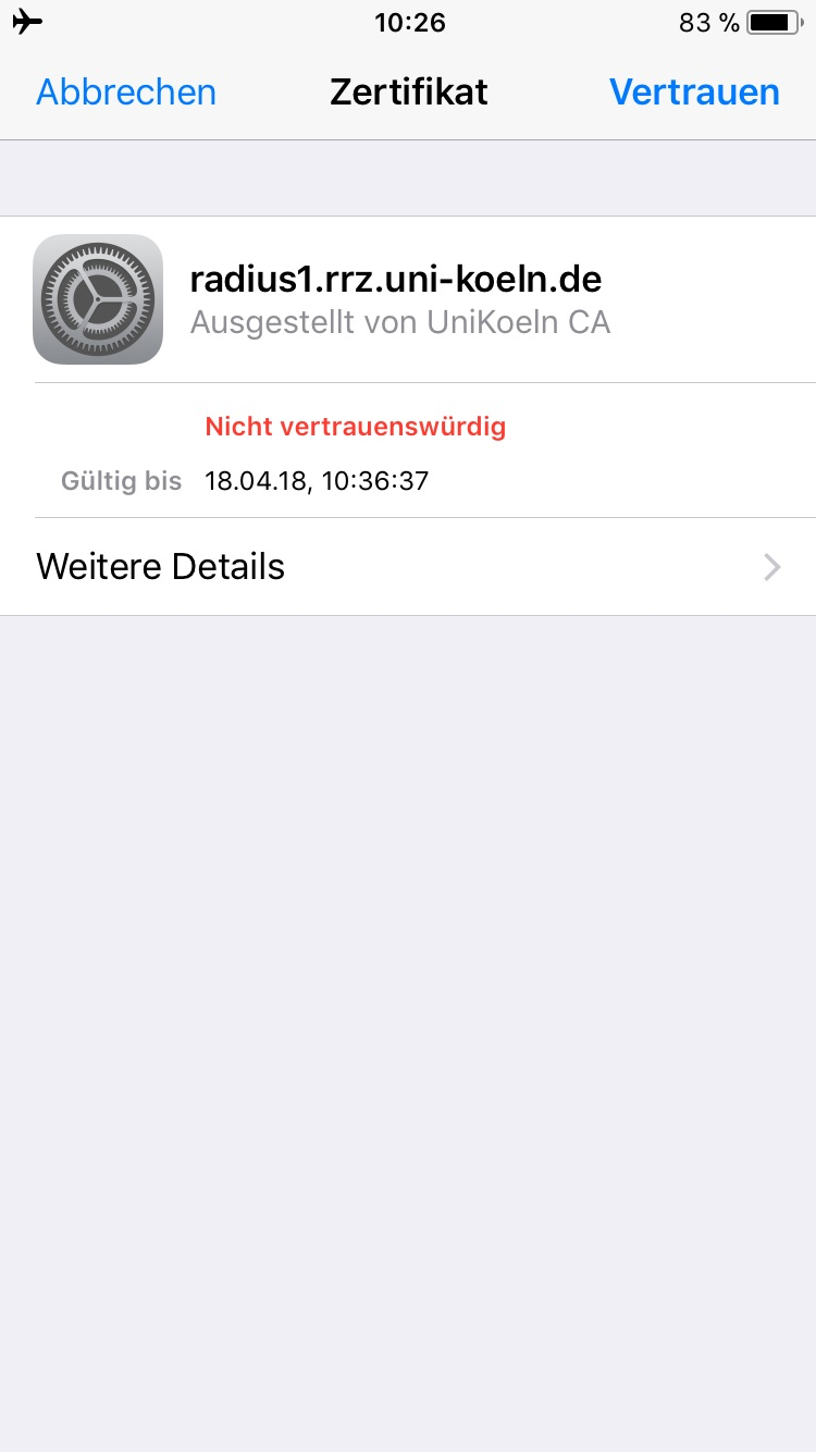 how to join eduroam on iphone